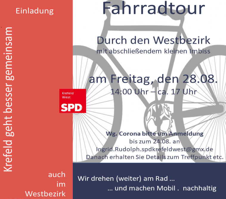 Einladung: Fahrradtour durch den Westbezirk