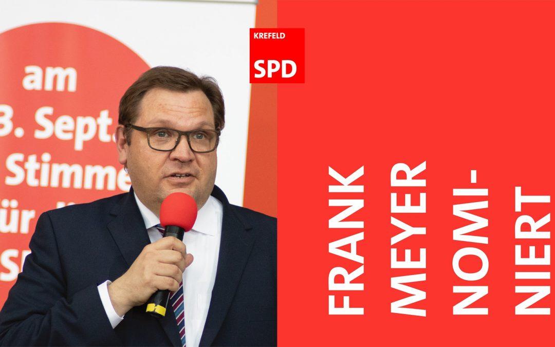 Frank Meyer als Oberbürgermeister-Kandidat für Krefeld nominiert