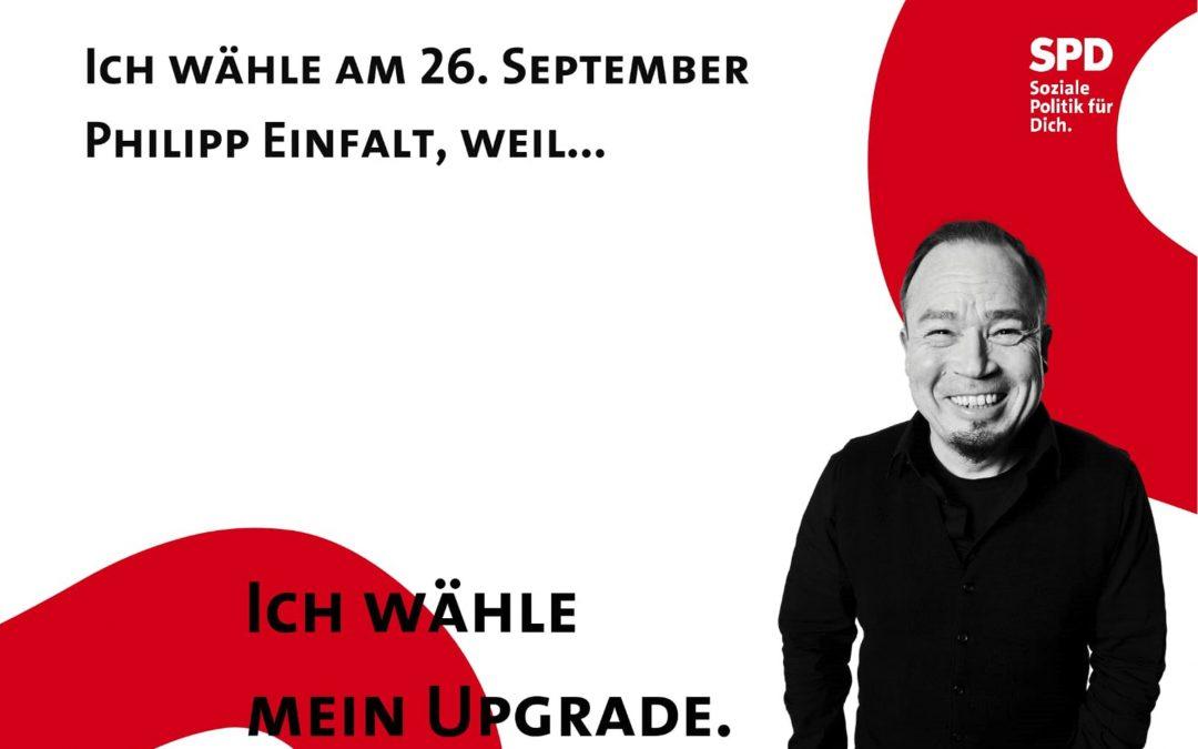Meet and Greet im Stadtgarten am Samstag, 04.09.2021 mit unserem Bundestagskandidaten Philipp Einfalt
