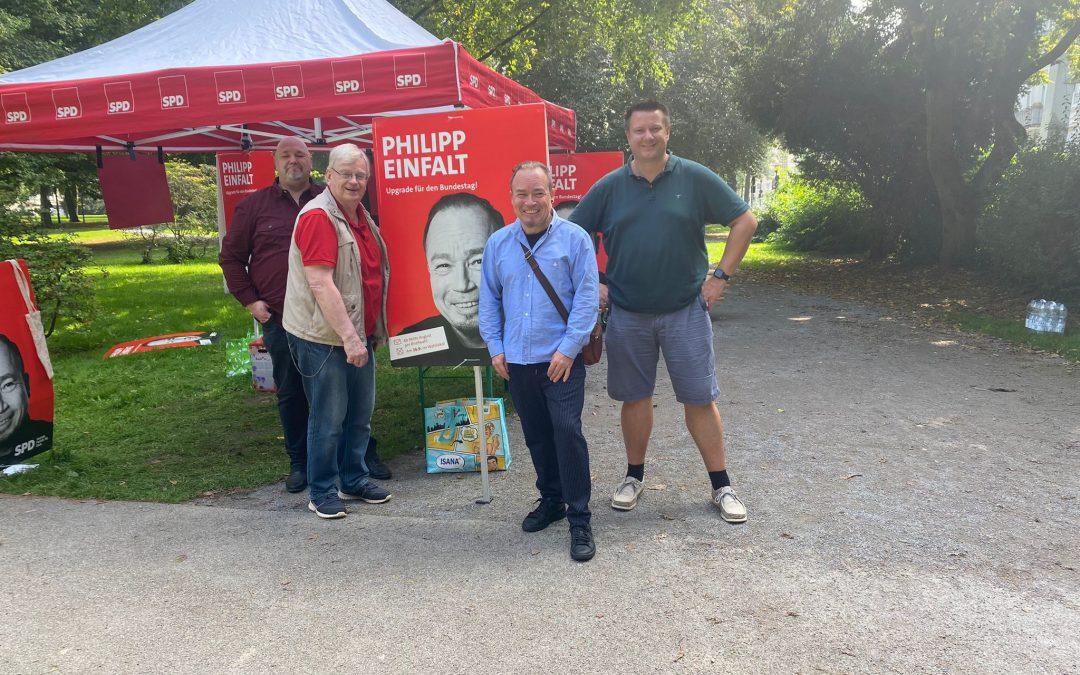 Meet and Greet im Stadtgarten mit unserem Bundestagskandidaten Philipp Einfalt